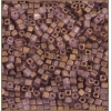 Square Beads 2.6x2.6mm Square Hole Golden Luster Matte